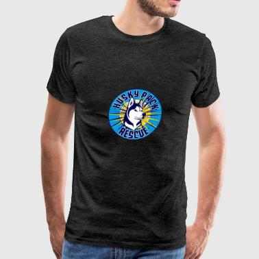 Support Husky Pack Rescue - Men's Premium T-Shirt