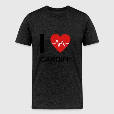 I Love Cardiff - Men's Premium T-Shirt