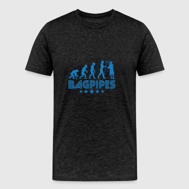 Retro Bagpipes Evolution - Men's Premium T-Shirt