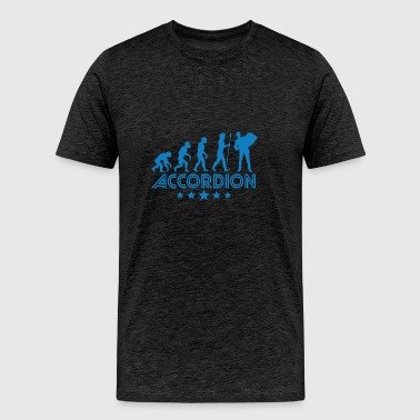 Retro Accordion Evolution - Men's Premium T-Shirt
