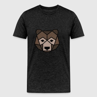 Geometric Animal: Grizzly Bear - Men's Premium T-Shirt