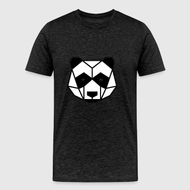 Geometric Animal: Panda Bear - Men's Premium T-Shirt