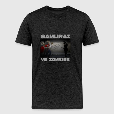 Samurai vs Zombies - Men's Premium T-Shirt