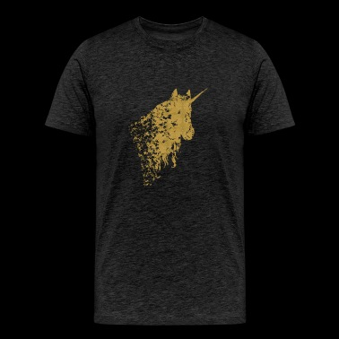 Mystical golden Unicorn - Men's Premium T-Shirt
