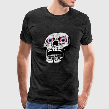 skull with red glowing eyes - Men's Premium T-Shirt