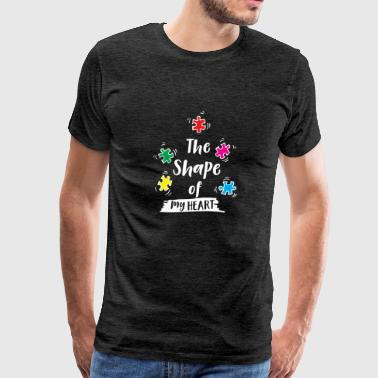 The Shape of my Puzzle Pieces Heart Autism Awareness funny shirts gifts - Men's Premium T-Shirt