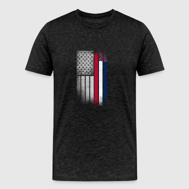 USA Vintage Mississippi State Flag - Men's Premium T-Shirt