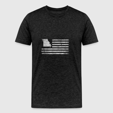 Missouri State United States Flag Vintage USA - Men's Premium T-Shirt