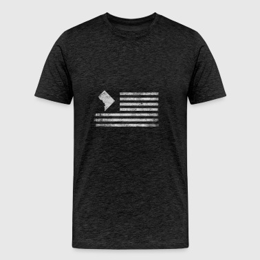Washington State United States Flag Vintage USA - Men's Premium T-Shirt