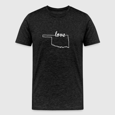 Oklahoma Love State Outline - Men's Premium T-Shirt