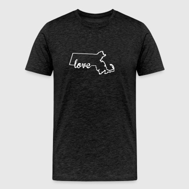 Massachusetts Love State Outline - Men's Premium T-Shirt