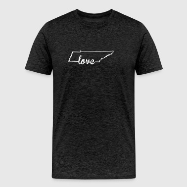 Tennessee Love State Outline - Men's Premium T-Shirt