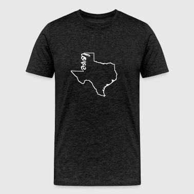 Texas Love State Outline - Men's Premium T-Shirt