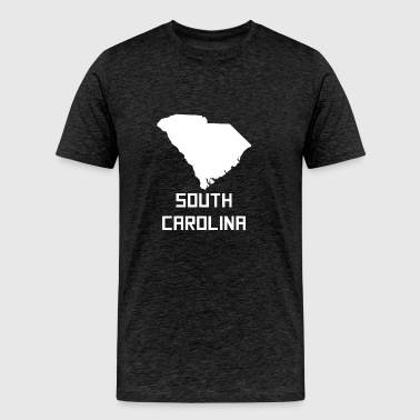 South Carolina State Silhouette - Men's Premium T-Shirt