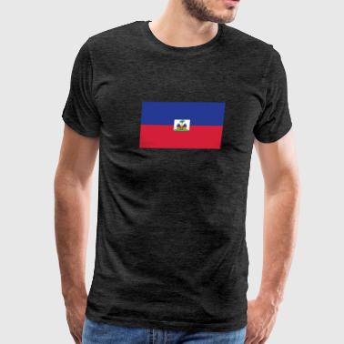Flag of Haiti Cool Haitian Flag - Men's Premium T-Shirt