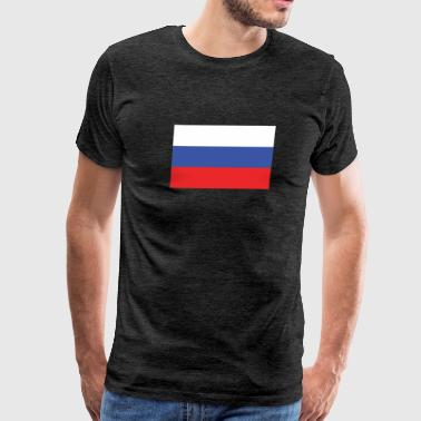 Flag of Russia Cool Russian Flag - Men's Premium T-Shirt