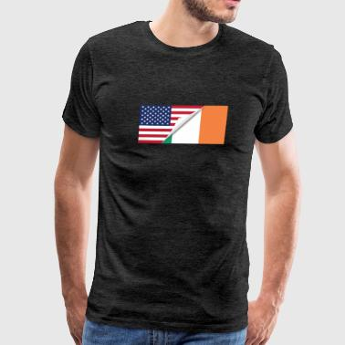 Half American Half Irish Flag - Men's Premium T-Shirt