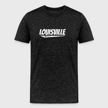 Louisville Retro Comic Book Style Logo - Men's Premium T-Shirt