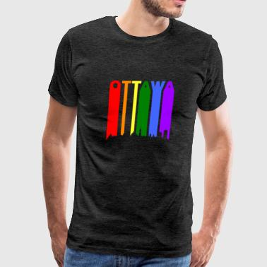 Ottawa Canada Rainbow Skyline LGBT Gay Pride - Men's Premium T-Shirt