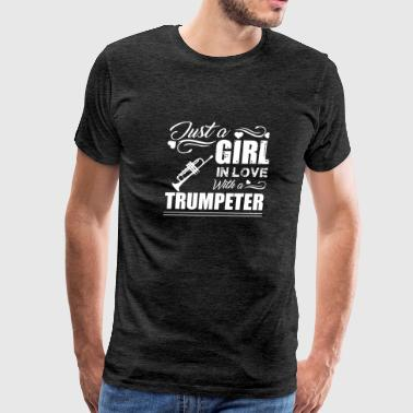Girl In Love With Trumpeter Shirt - Men's Premium T-Shirt