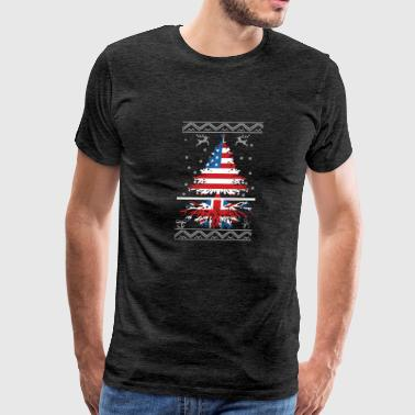 American with British root - Men's Premium T-Shirt
