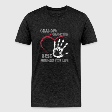 Grandpa and grandson best friends for life - Men's Premium T-Shirt