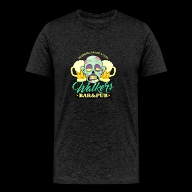 Zombie Walkers Bar and Pub - Men's Premium T-Shirt