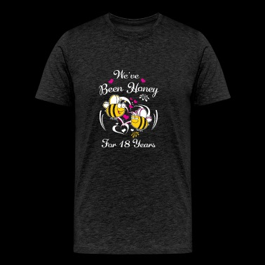 We've Been Honey For 18 Years Wedding Anniversary - Men's Premium T-Shirt