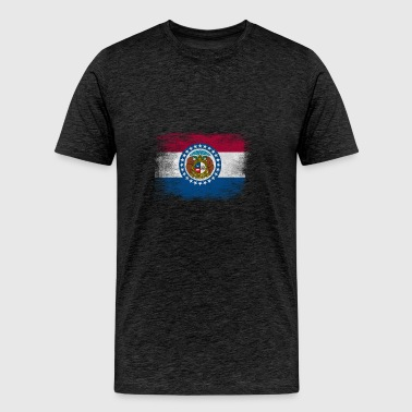 Missouri State Flag Distressed Vintage - Men's Premium T-Shirt