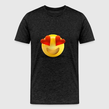 heart smail - Men's Premium T-Shirt