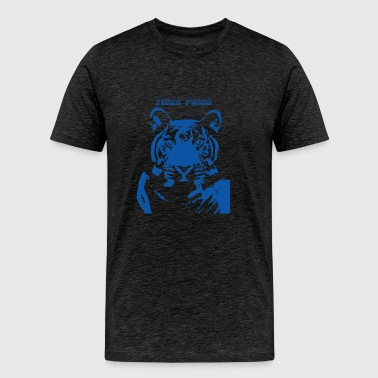 Blue_Tiger - Plus Size - Men's Premium T-Shirt