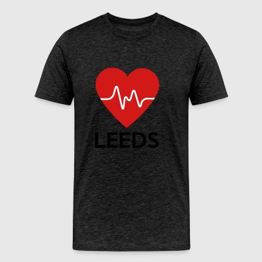 Heart Leeds - Men's Premium T-Shirt
