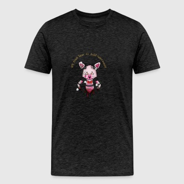 funtime foxy:Try your best to hold onto saninty - Men's Premium T-Shirt