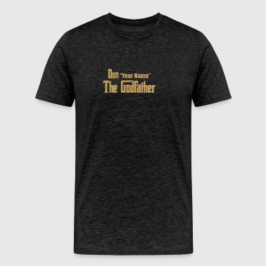 Godfather Custom Movie Brando Mafia - Men's Premium T-Shirt