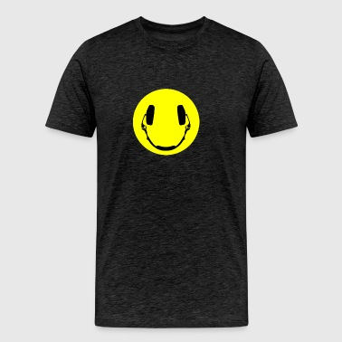 Headphones smiley - Men's Premium T-Shirt
