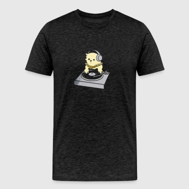 Cat Dj - Men's Premium T-Shirt