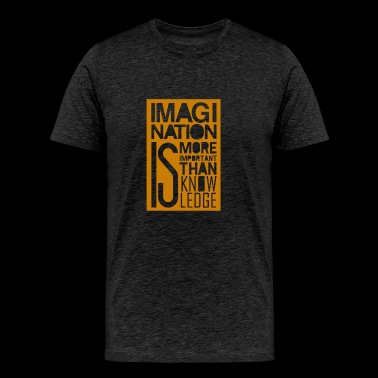Imagi nation is more important than know ledge - Men's Premium T-Shirt