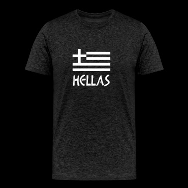 Greece Hellas Greek Flag - Men's Premium T-Shirt