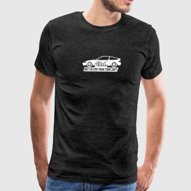 Honda CRX ED9 EE8 Artwork JDM Drift Dope Racing - Men's Premium T-Shirt