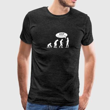 Banksy Funny Human Evolution Indie - Men's Premium T-Shirt