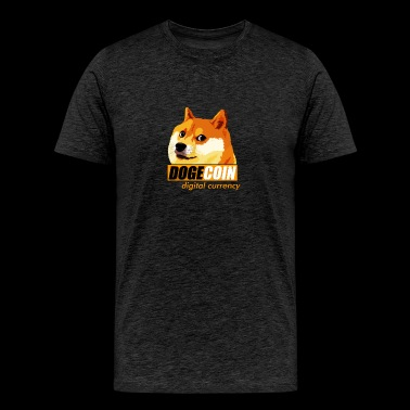 Dogecoin Digital Currency - Men's Premium T-Shirt
