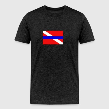 Blue Line Dive Flag - Men's Premium T-Shirt