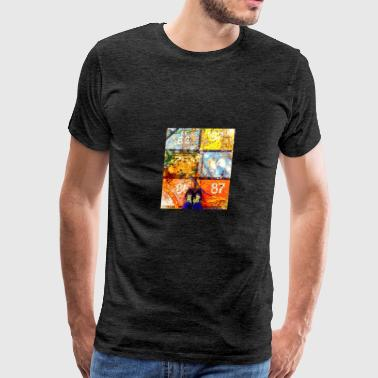 Abstract Old Wall Art - Men's Premium T-Shirt