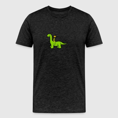 boy fun ride playing friends horse long-neck neck  - Men's Premium T-Shirt