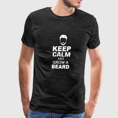 Beard - Beard - Keep Calm And Grow A Beard - Men's Premium T-Shirt
