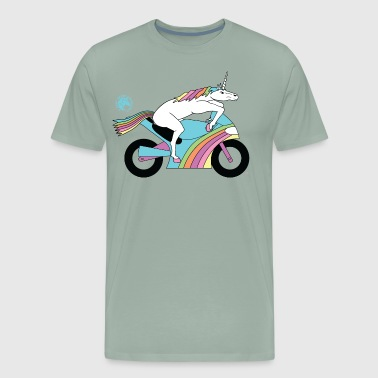 Sportbike Design Sportbike Unicorn Outline - Men's Premium T-Shirt