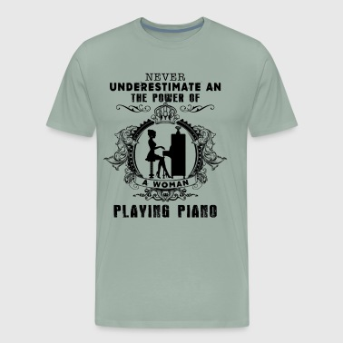 The Power Of A Woman Playing Piano Shirt - Men's Premium T-Shirt
