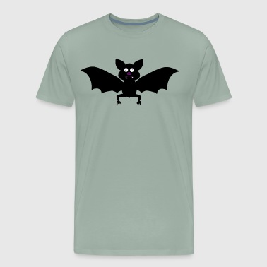 Crossed Comic Bat - Men's Premium T-Shirt