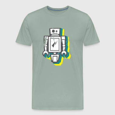 Retro Robot ROBOT - Men's Premium T-Shirt