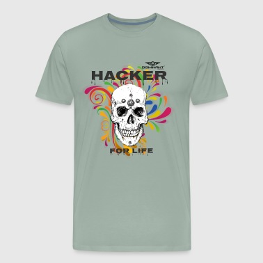 Dominant Gear Hacker for Life colorful - Men's Premium T-Shirt